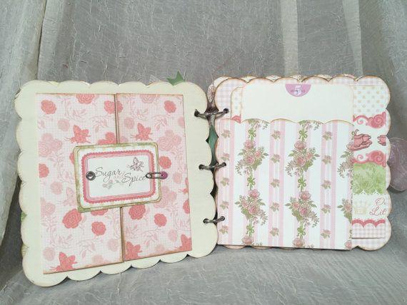 Baby Girl Photo Album/Memory Book Milestone Book by etcdesignshop