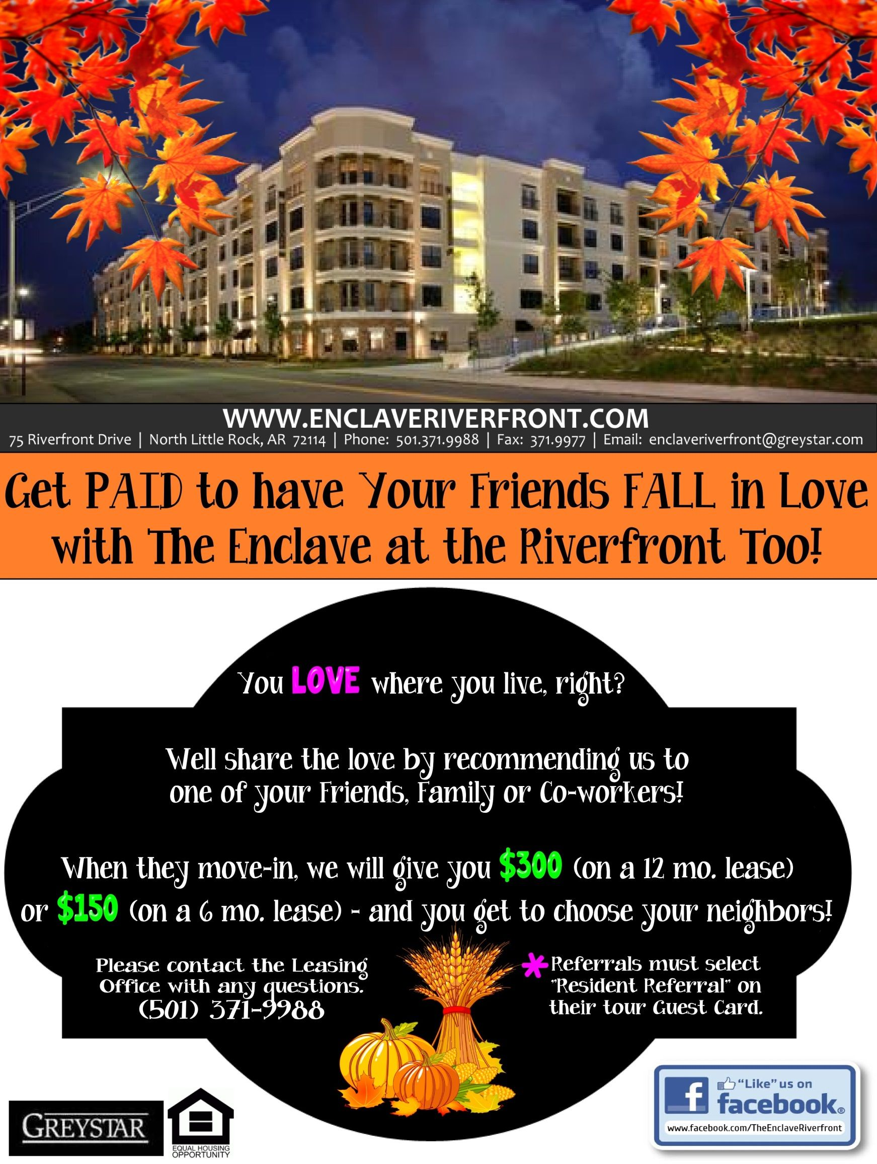 this is a resident referral flyer i made for the property i currently work for layout designed by bonnie rose