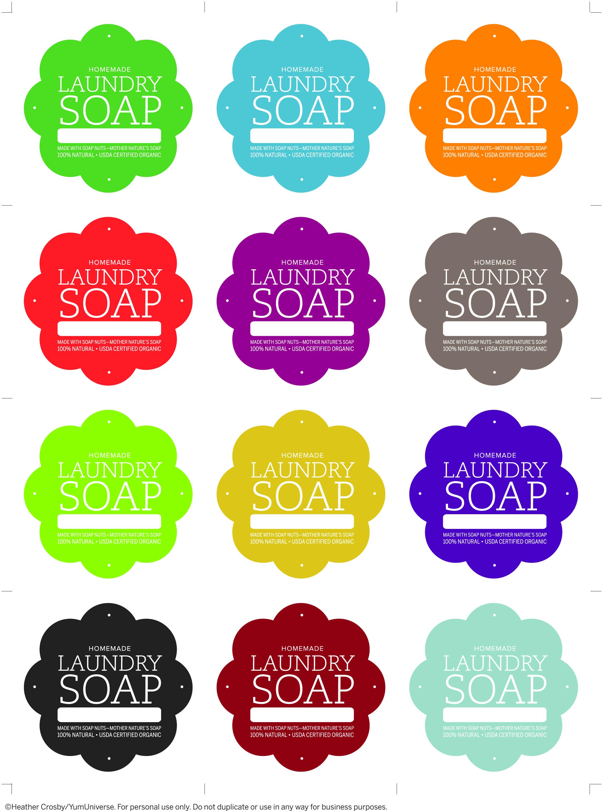 Laundry Soap Labels Soap Labels Laundry Soap Homemade Soap