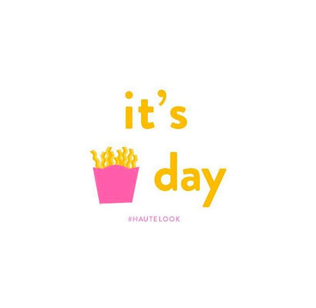 Finally! Happy Fry-day. #hautelook
