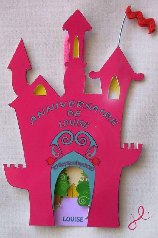 Carte d'invitation : Le château - La fabrique de Julie | Anniversaire fille 5 ans, Fete ...