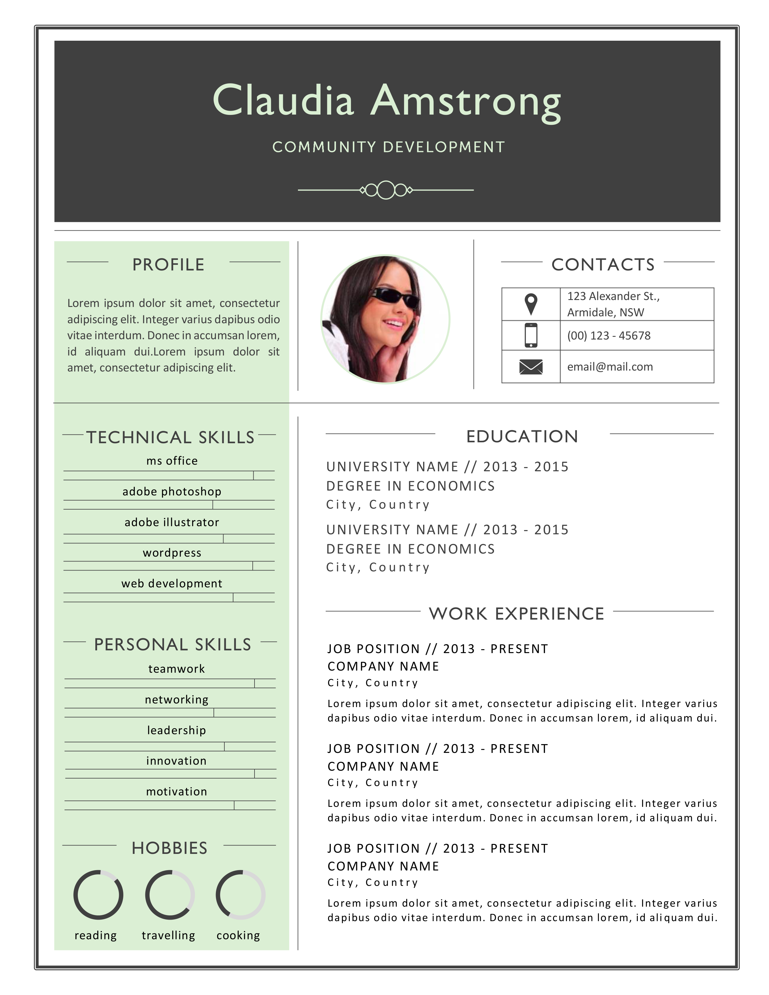 Instant download resume template pack for MS Word (.docx