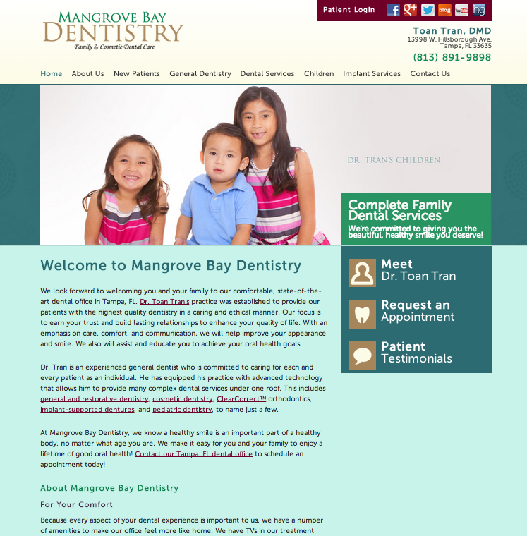 Sesamewebdesign Sds Ravenna Dental Responsive Green Red Yellow Blue Sans Cosmetic Dental Care Dental Dentistry