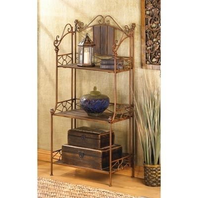Corner Bakers Rack With Storage Impressive Rustic Corner Baker's Rack Tuck This Lovely Shelf Into A Drab Decorating Design