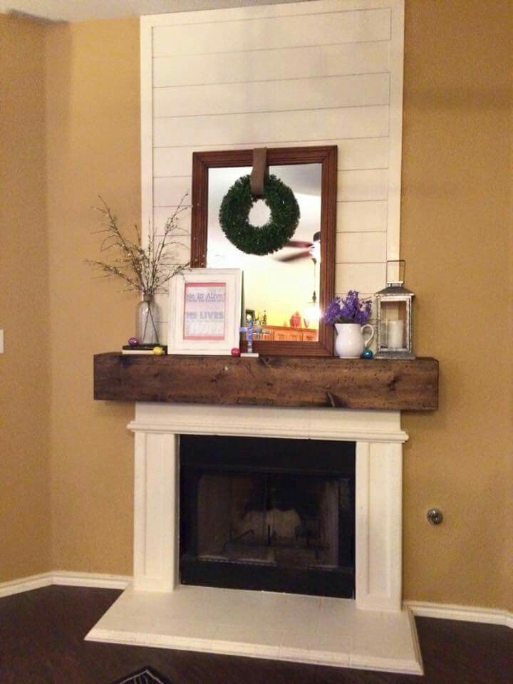 shiplap fireplace more
