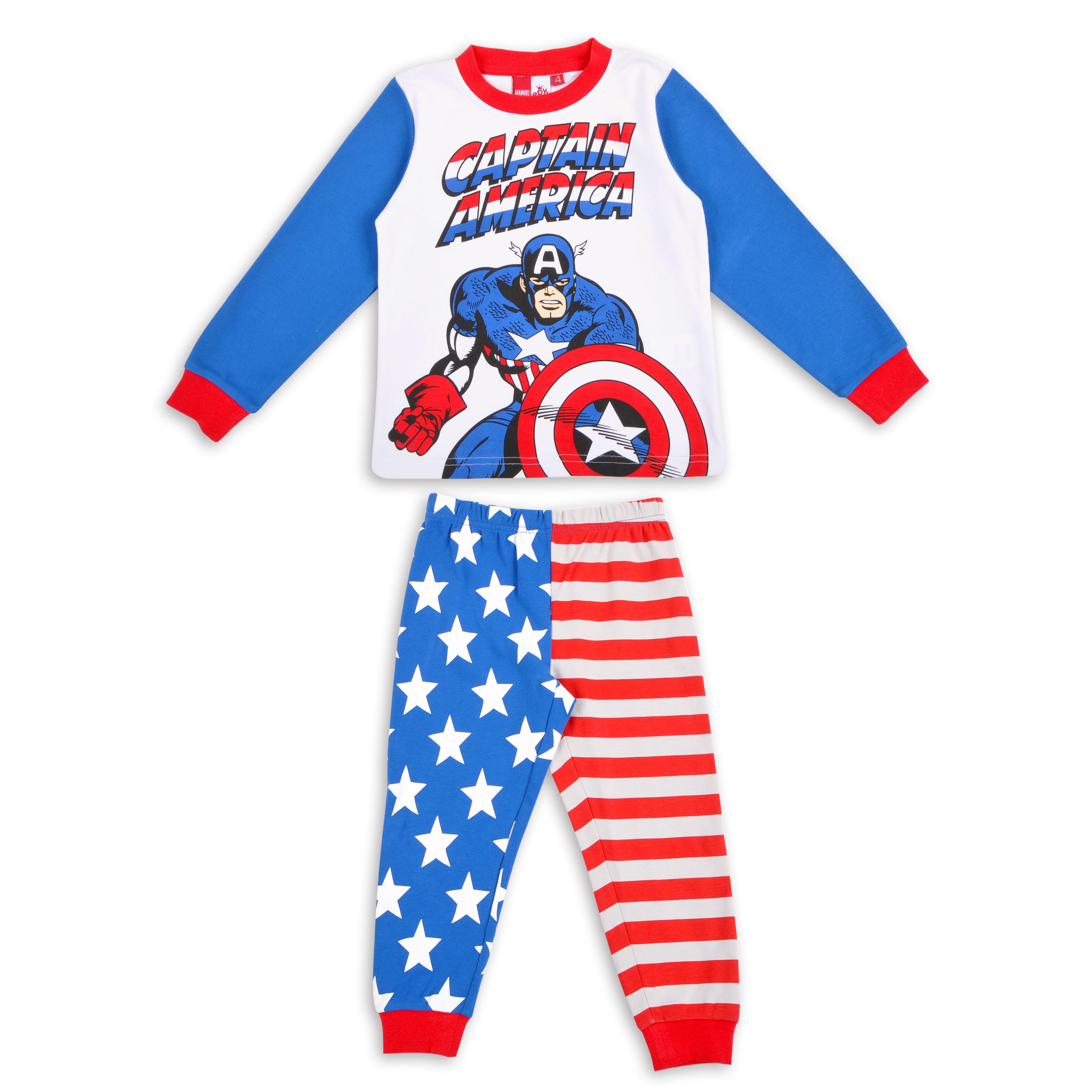 d0eb74139 Pijama EPK para niño con estampado y colores de Capitan America | A ...