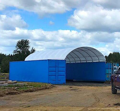 20x40 Shelter Cover Roof Building Conex Overseas Box Shipping Container Kit Ebay In 2020 Shipping Container Conex Box Building Roof