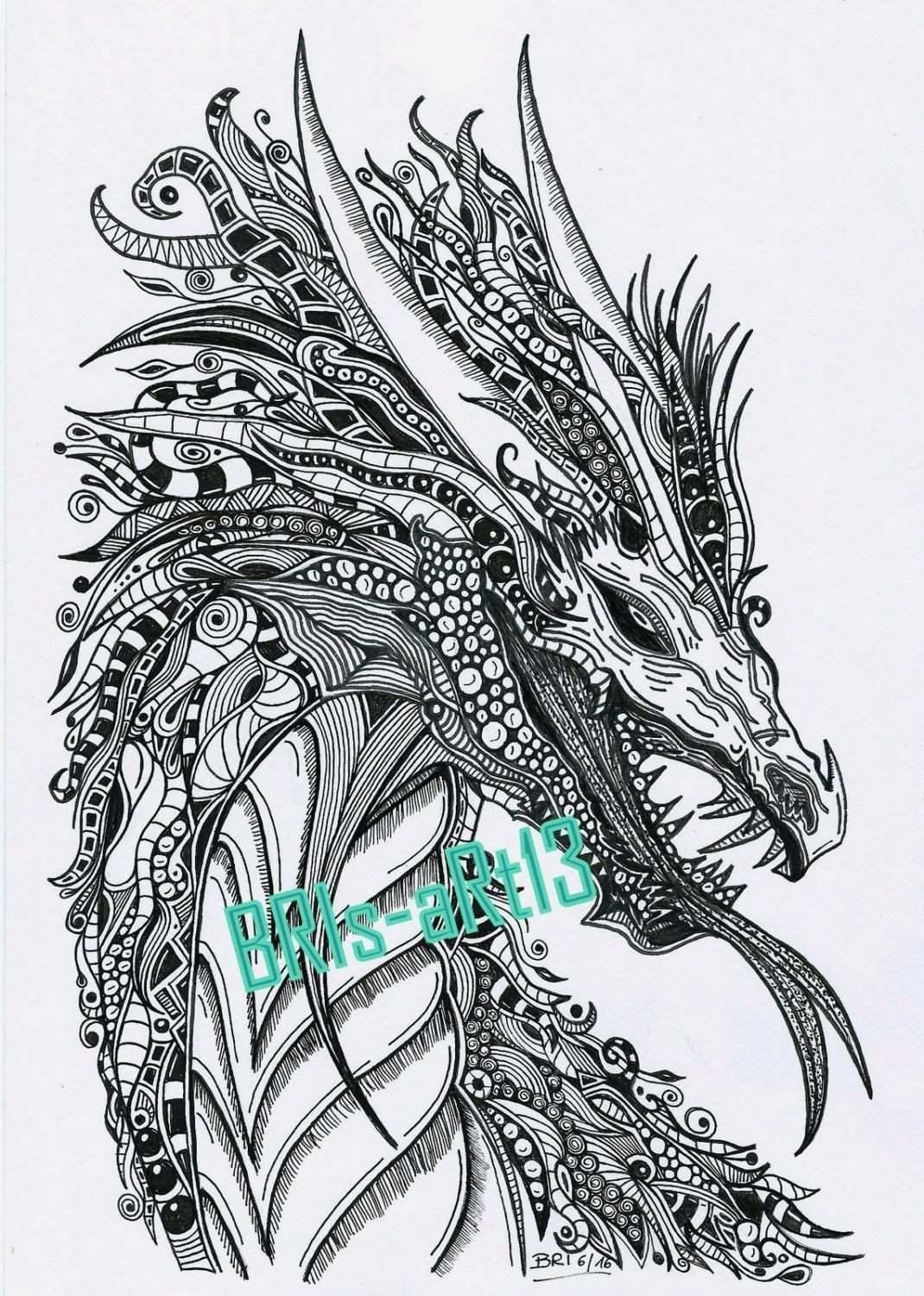 Coloring Pages Of Dragons Breathing Fire