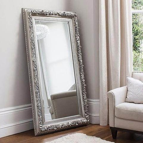 Annalise Silver Leaner Mirror Shine Mirrors Australia 1 Leaner Mirror French Style Mirrors Mirror Decor