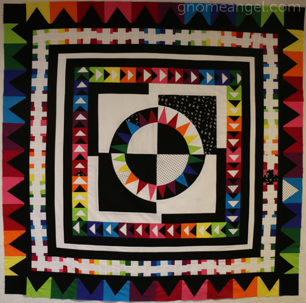 Modern Medallion quilt along - equal rights and I was framed