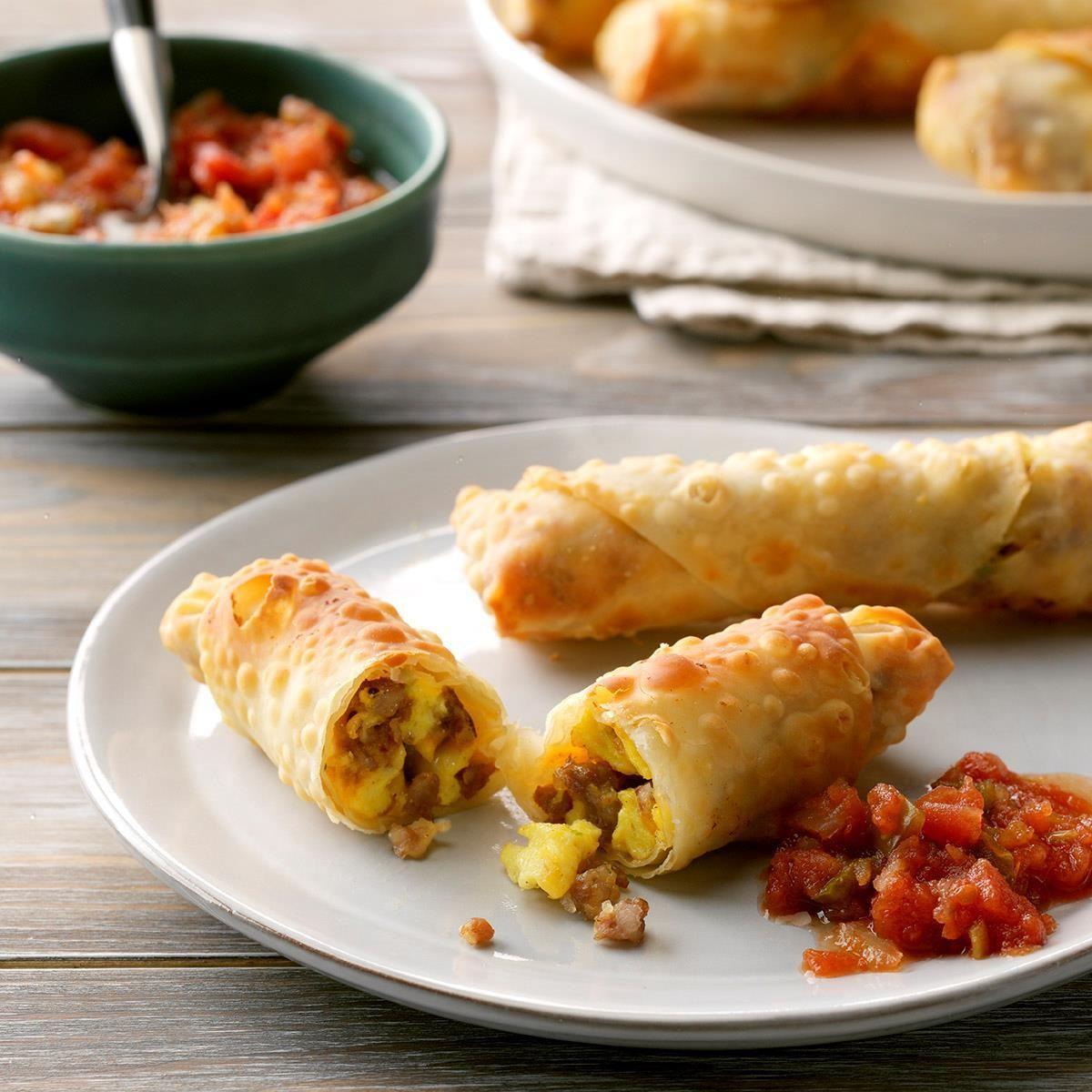 Cheesy Breakfast Egg Rolls Recipe in 2020 Air fryer