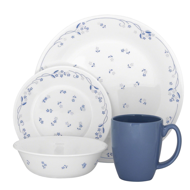 Visit Corelle® for a Livingware™ Provincial Blue Dinnerware Set. The beautiful blues of this dinnerware set will complement any decor. Shop World Kitchen  sc 1 st  Pinterest & Corelle® Livingware™ Provincial Blue 16-pc Dinnerware SetLivingware ...