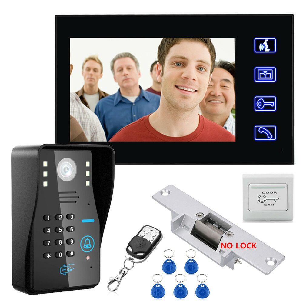 Video Doorbell Home Security Device Videodoorbell Homesecurity 7 Rfid Password Video Door Phone Intercom Doorbel Video Door Phone Door Lock System Doorbell