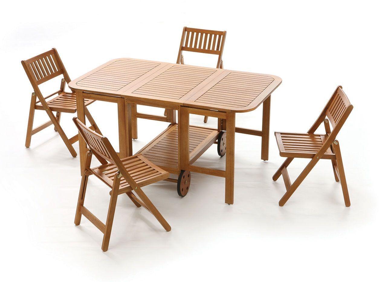 Sedie Chiudibili ~ Set di sedie pieghevoli in teak con cuscino elsie cm