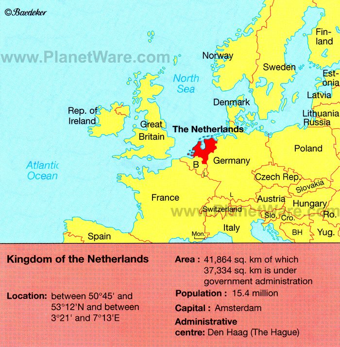 Map of Netherlands Location PlanetWare JP Bridal Shower