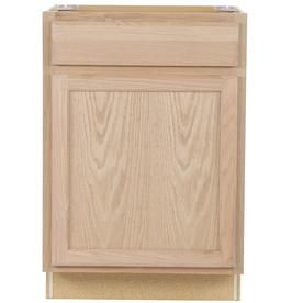 Project Source Unfinished 24 In Natural Bathroom Vanity Cabinet