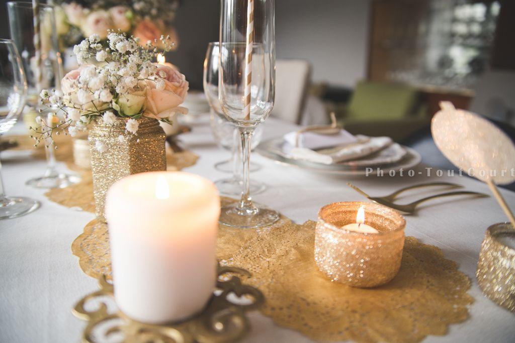Deco Table Noel Blanc Et Or Table De Noël Table Noël