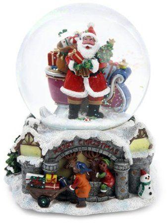 Amazon Com Kurt Adler 100mm Musical African American Santa Waterglobe Furniture Decor Christmas Snow Globes Christmas Globes Christmas Chocolate