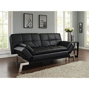 Costco Daytona Bonded Leather Euro Lounger Black