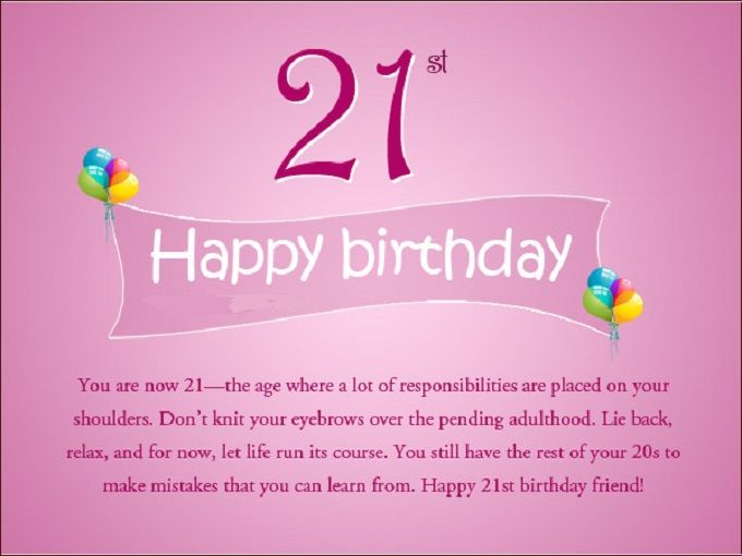 60 Best Happy 21st Birthday Wishes Birthday Quotes Messages