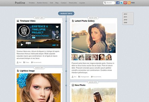 Sharefull.net – Themify – Postline v1.3.9 – WordPress Theme.    nspired by Facebook's Timeline, Postline (view demo) is a responsive WordPress theme designed to capture different types of post formats like quotes, videos, images, galleries, and many more,...  ♡ ShareFull.Net ☼ Info & Download: http://goo.gl/wfwxlO »»»