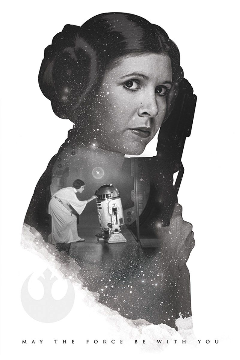 Star Wars Princess Leia May The Force Be With You Poster
