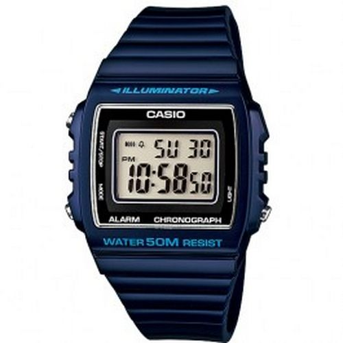 eb10e7852fd NEW Casio Illuminator WR50m Chronograph Blue Sport Watch Model -  W-215H-2AVDF