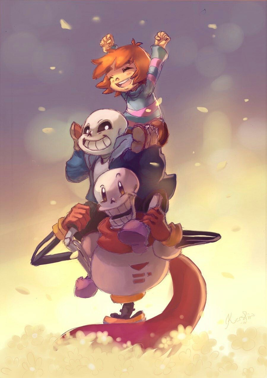 frisk sans papyrus the whoops i accidentally became undertale