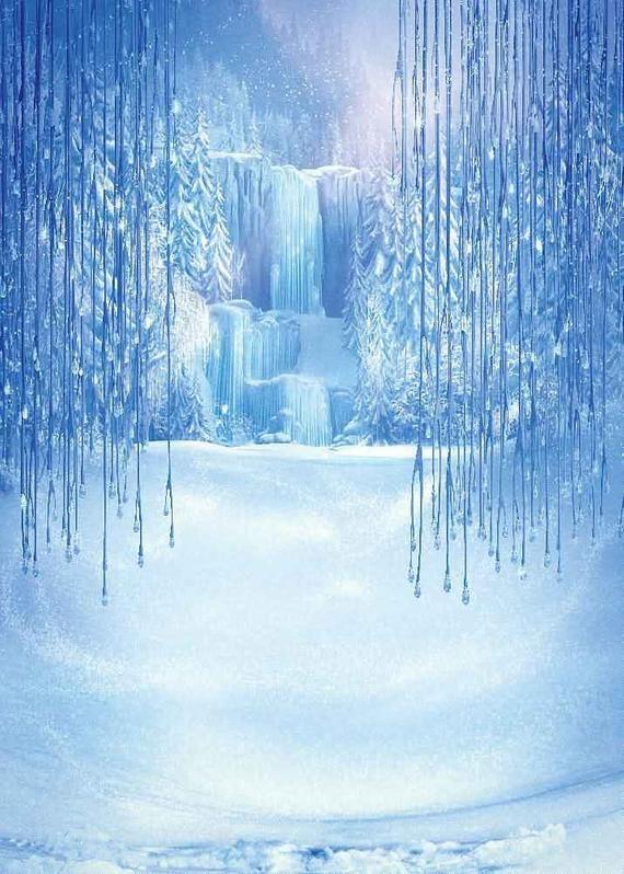 Wonderful Ice Falls 5' x 7' Digital Printing Backdrop Photography Backgroud YHA-465