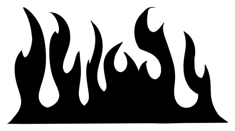 Flames Stencil Stencils Silhouette Clip Art Clip Art