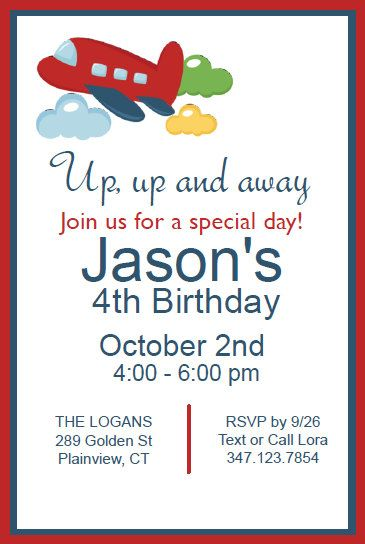 Airplane ~ Instant Download Editable Plane Invitation Templates - download invitation templates