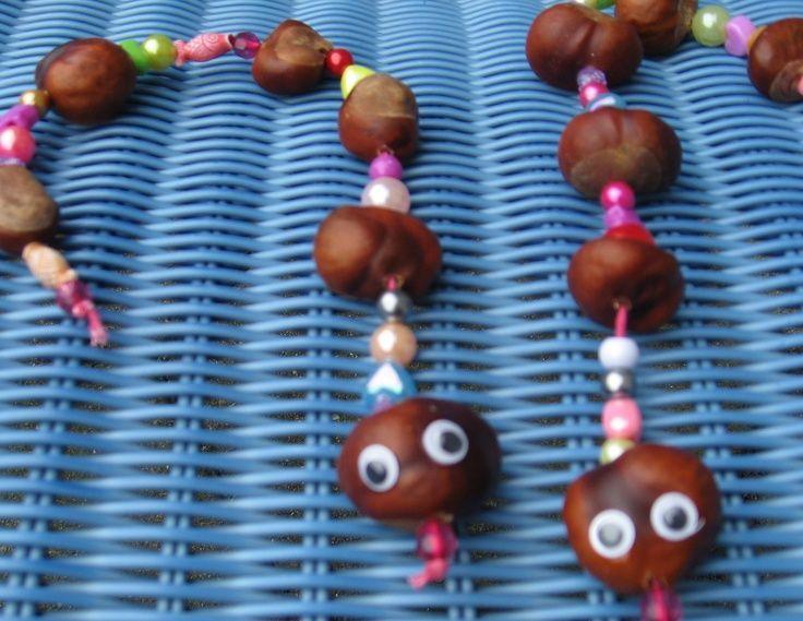 Kastanienschlange   - Kids crafts -   # #bastelnmitkastanienkinder