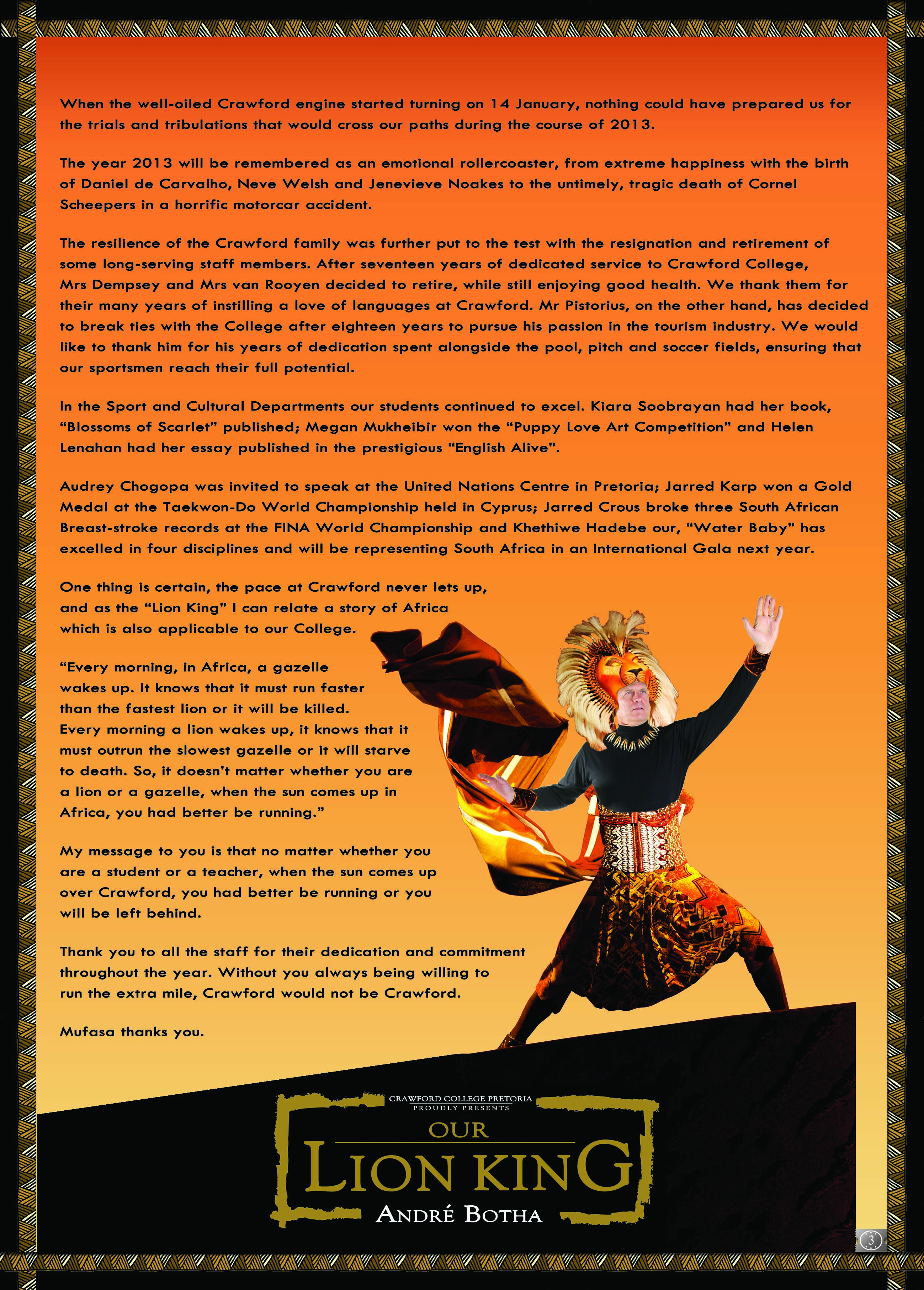 Principal S Message Poster Broadway Theme With Images
