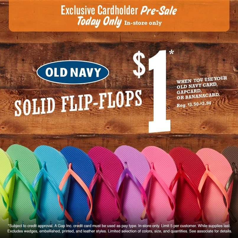 Old Navy 1 Flip Flop Early Preview Sale Today 6 15 Old Navy Flip Flops Flip Flop Sale Old Navy