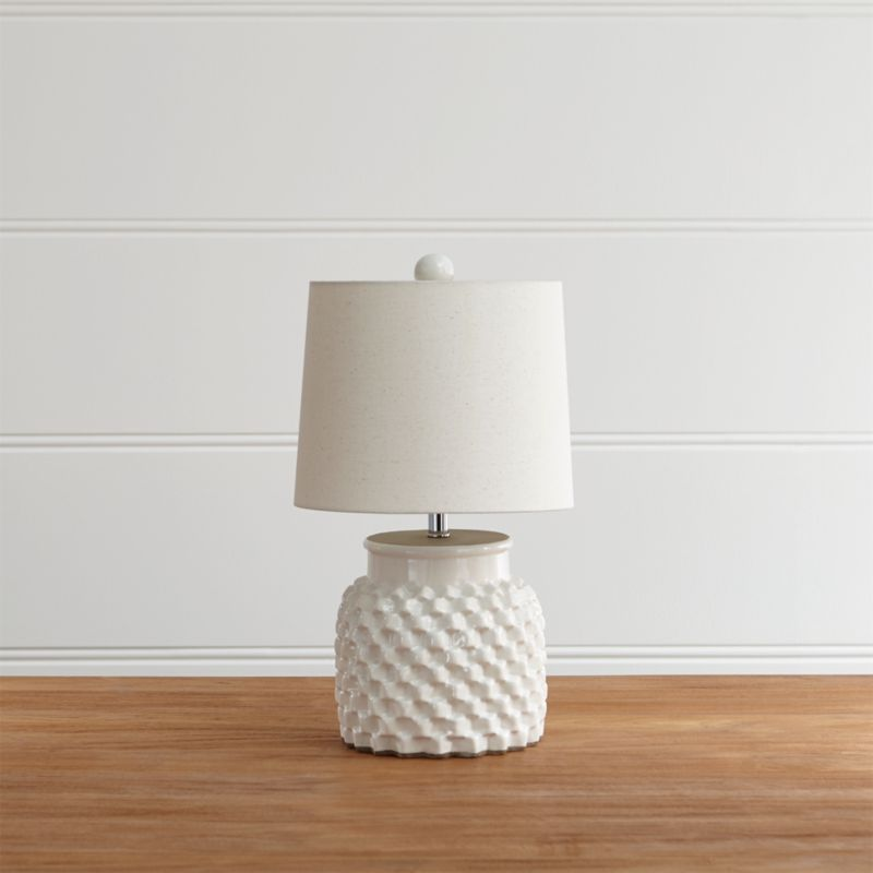 Rati Small White Table Lamp Reviews Crate And Barrel In 2020 White Small Table Small Table Lamp Small White Table Lamp
