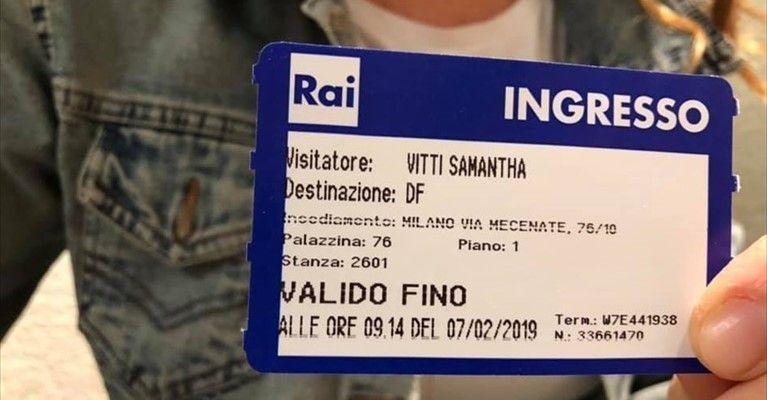 """Ruvesi in tv, oggi è la volta di Samantha Vitti a """"Detto ..."""