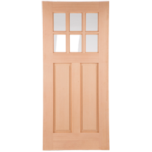 36 X 80 Raw 6 Lite Entry Door Mortised Entry Doors Double