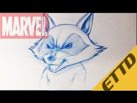 How To Draw Rocket Raccoon From Guardians Of The Galaxy Easy