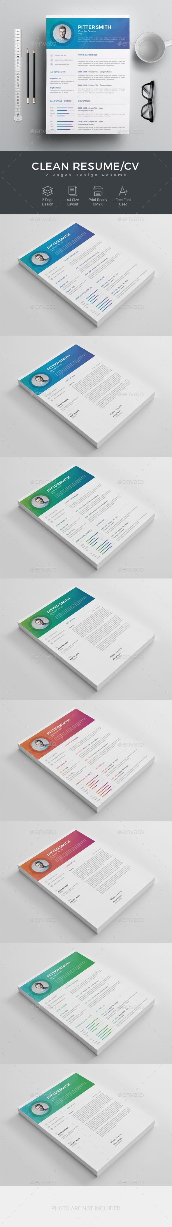 Resume - Resumes #Stationery Download here: https://graphicriver.net ...