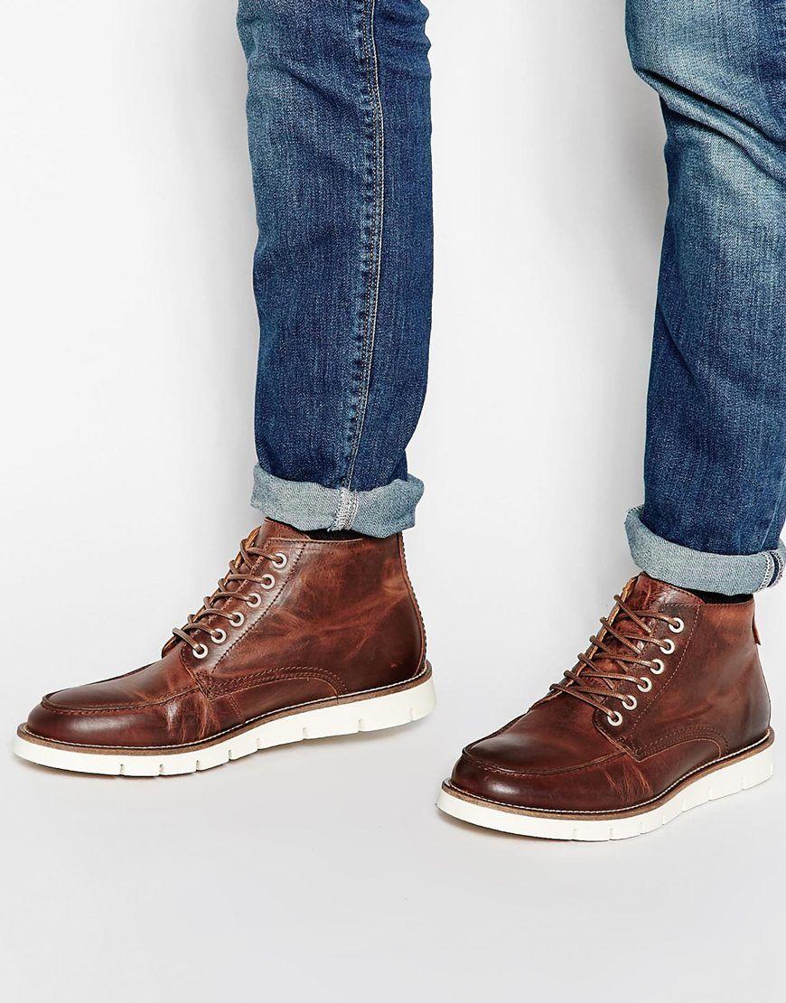 Buy Men Shoes / Jack & Jones Kingston Leather Boots