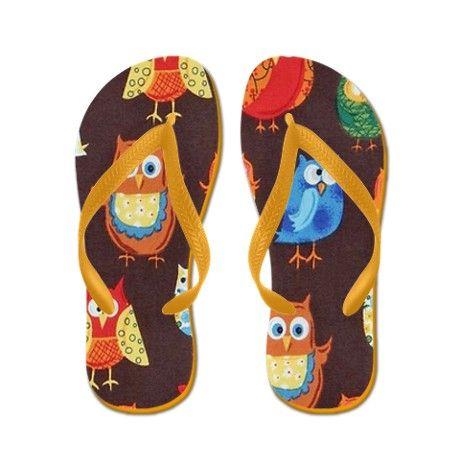 f1488361474e79 Brown Owl Flip Flops