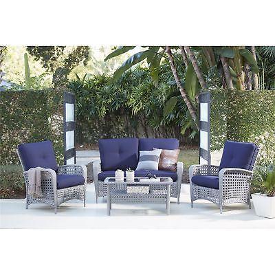 Poolside Patio/deck furniture 4 Piece Sofa Seating Group Garden