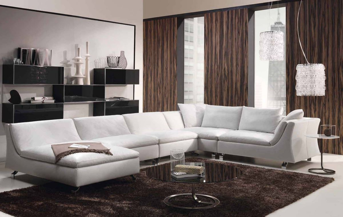 sala blanca tipo L, Justo como la busco! | casa | Pinterest | Blanco ...