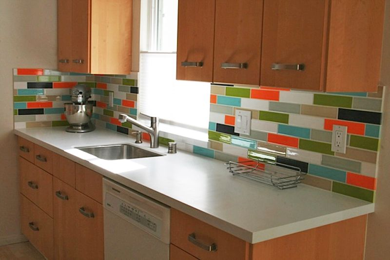 ceramic subway tile for kitchen backsplash or bathroom tile in orange color zest wrong colors - Colorful Subway Tile