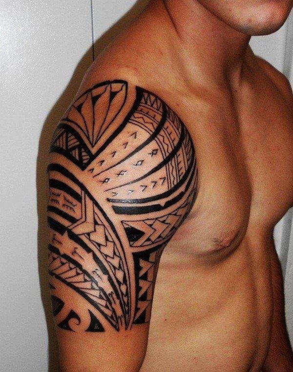 101 Polynesian Tattoo Design Ideas For Girls And Boys Tribal Shoulder Tattoos Tribal Tattoos For Men Samoan Tattoo