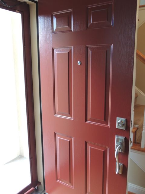 Mountain Berry Energy Star Rated Steel Entry Door Adds A Splash Of