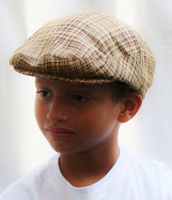 Boy's Custom Handmade Lightweight Jeff Cap for Boys Baby by Sookie, $68.00