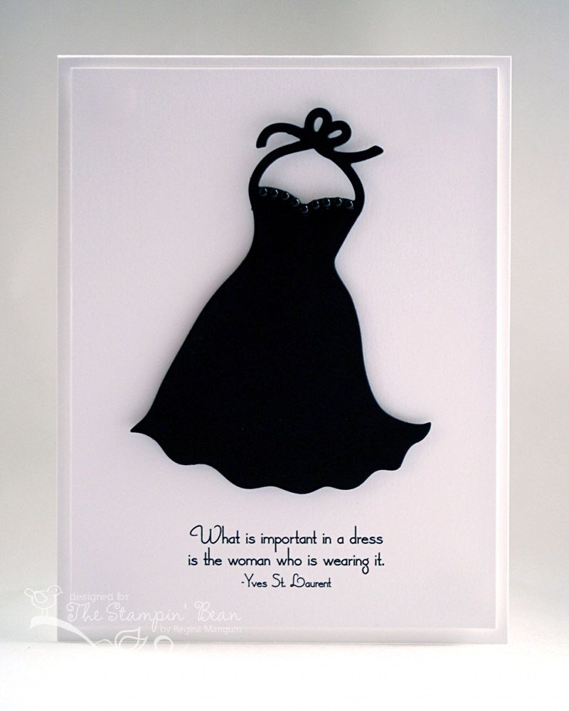 The Stampin Bean Dress Card Fabric Cards Dress Quotes [ 1000 x 800 Pixel ]