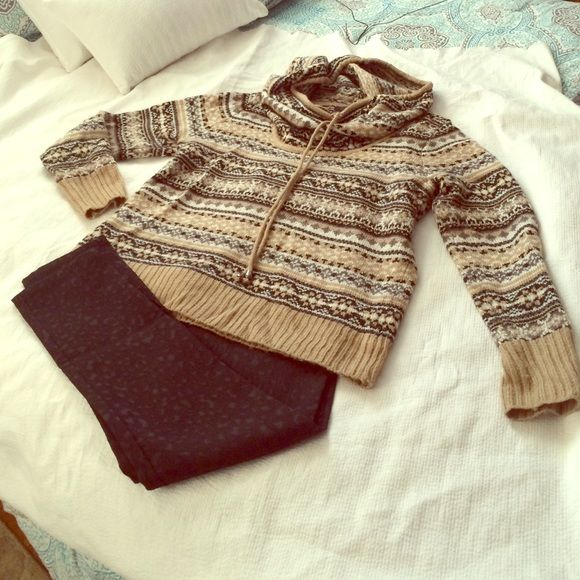Kensie fair-isle cowl-neck ski sweater