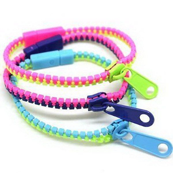 Free Epacket Ship Whole 50pcs Lot Zipper Bracelet Hip Fashion Zip Multicolor Instock Bangle
